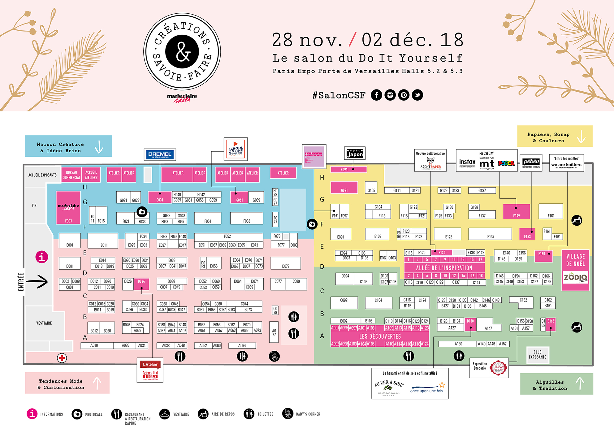 Plan du salon CSF 2018