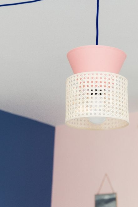 Lampe cannage